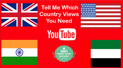 Provide Targeted High Retention YouTube Views From More Than 20 Country 1000-3000