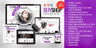 Design SEO optimized high resolution RETINA display ecommerce website in Magento
