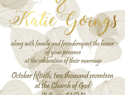 Design your wedding invitation