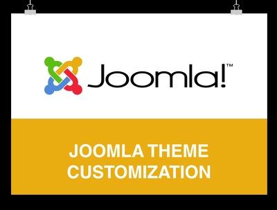 Customize  your joomla website