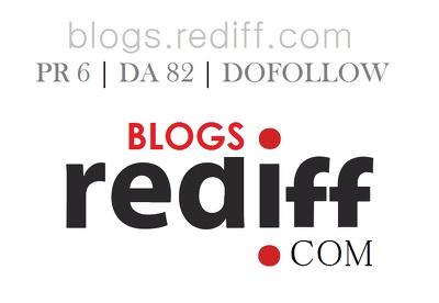 Guest Blog in Rediff Blog PR 6 DA 82 Dofollow Link