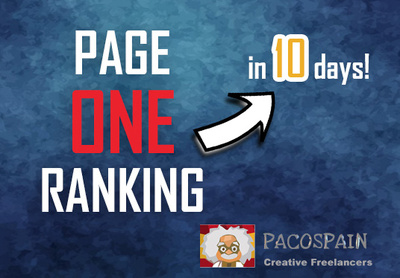 Get you Page 1 (ONE) ranking in a very short time!