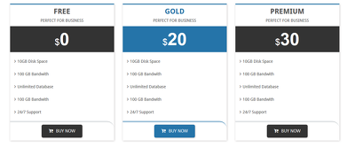 Create professional 2 style pricing table (html,wordpress)