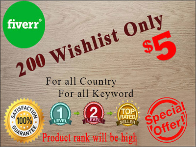 Do able to rank any amazon product for service 600 wishlist