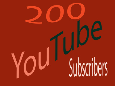 Give You 200 YouTube Subscribe With Very Fast Delivery