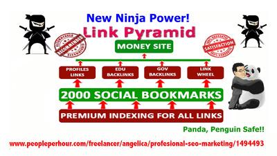 Get you rank top on GOOGLE by High Quality NINJA Pyramid HV. 1 SEO BACKLINKS