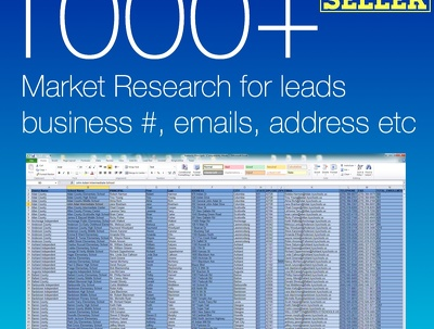 conduct market information and leads research from 60 to 1000+ leads