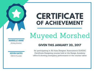 Design Unique Certificates for you