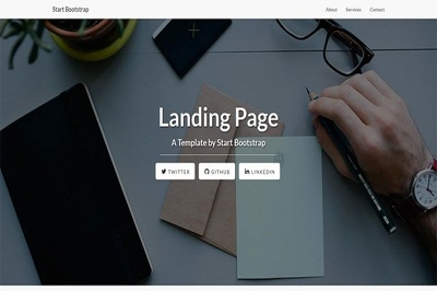 Design unique and professional landing page for your Website
