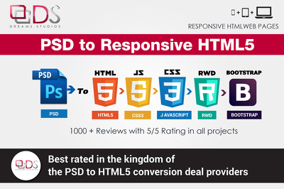 Professional PSD To Responsive HTML5+CSS3 Web page Using Bootstrap 3.0[50% OFF]