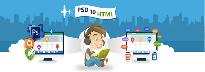 PSD to HTML using Bootstrap, SASS and fully responsive with super clean code