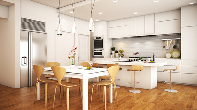 Create Residential 3D Interior Rendering