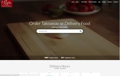 Design online order website with desktop application