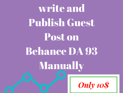 Write and Publish Guest Post on Behance DA 93 Manually
