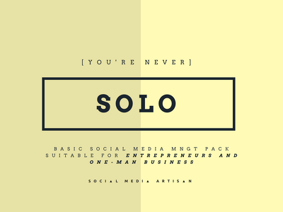 "Be your Social Media Storyteller -""SOLO"" Pack"