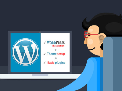 Install wordpress theme with plugins and demo content