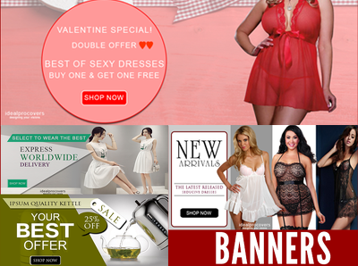 Design professional web banners and headers