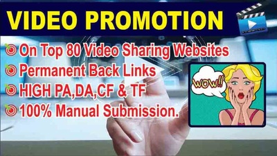Upload or share  your video manually to 80 Video Submission sites