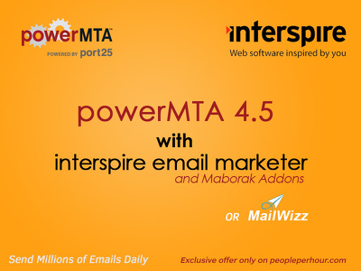 Install setup and configure powerMTA SMTP with Interspire or Mailwizz