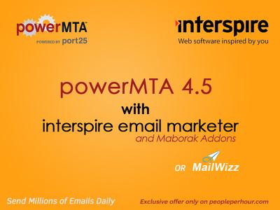 Install & configure powerMTA SMTP with Interspire or Mailwizz