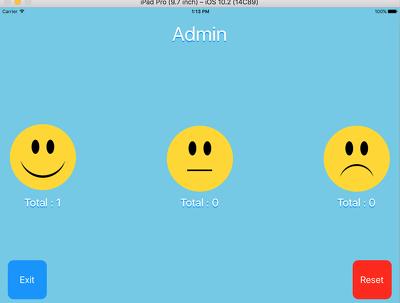 Provide an exit survey IOS App