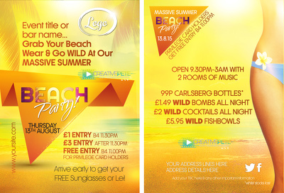 Create an awesome summer design pack - flyer, poster & social media banners