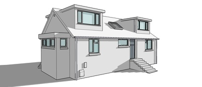 Draw a 3D sketchup model of your 2D building