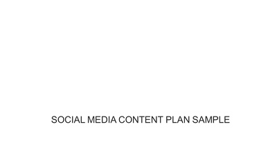 Create a social media strategy plan