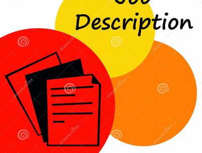 Develop a Job Description for your role