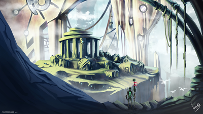 Make conceptual/theme based environment illustration