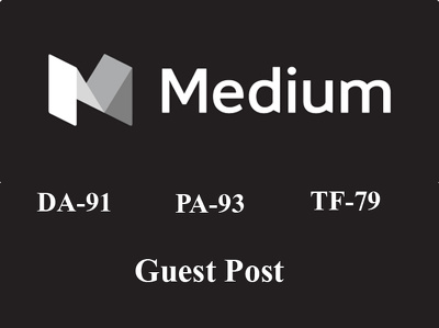 Write and Publish Guest Post on medium DA 91 manually