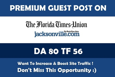 Publish Guest Post on Jacksonville. Jacksonville.com - DA 80 - Premium News Site