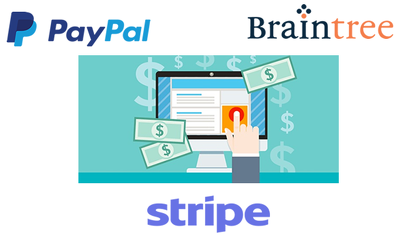 Integrate your website to Paypal, Stripe or BrainTree