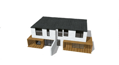 Do simple 3D model in sketchup