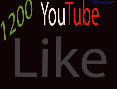 Give You 1200 YouTube like  +10 Bonus With very Fast Delivery Only