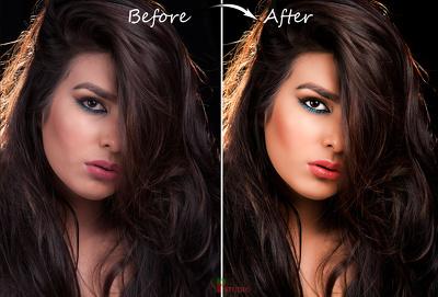 High End Beauty portrait retouching 1-5 image