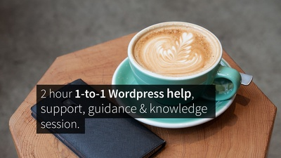2 hour 1-to-1 Wordpress help, support, guidance & knowledge session