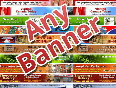 Design your website banner