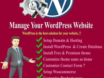 Customize & manage your WordPress website