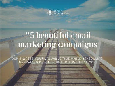 Organize and schedule #5 professional email marketing campaign in Mailchimp