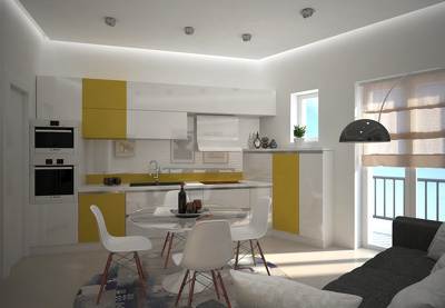 Design and render your kitchen in 3Dstudio Max and Vray