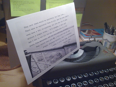 Type a Typewritten, Customised, Celebratory Card, Over an Image