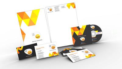 Design exceptional stationary pack biz card, letterhead, envelope, A4 folder, favicon