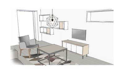 Create 2 sketches of your dream room