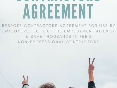 Draw up an independent contractor agreement