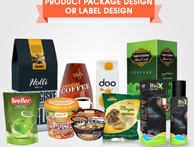 Do Attractive Product Packaging Design Or Label Design Unlimited Revisions