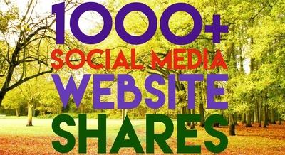 Provide 1000+ Real Social Media Shares for increase Seo Ranking
