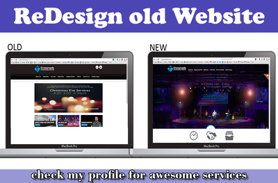 Redesign your site to modern responsive look