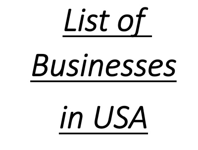 Provide a list of Businesses in USA with contact info