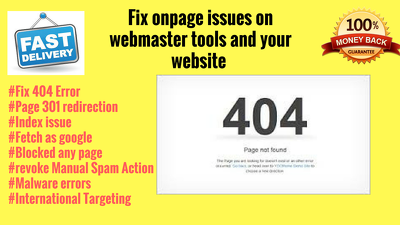 Fix Onpage issues on webmaster tools and your website (wordpress)